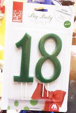 Candelina Numerica Gigante 18 anni due numeri separati