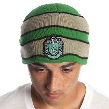 OFFICIAL  HARRY POTTER SLYTHERIN CREST PATCH GREEN BEANIE HAT (BRAND NEW)
