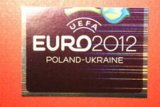 Panini EURO 2012 N. 2 LOGO NEW With BLACK BACK TOPMINT!!