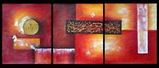 NO FRAME! 3 PANELS SET ABSTRACT WALL ART OIL PAINTINGS HAND PAINTED MODERN DECOR