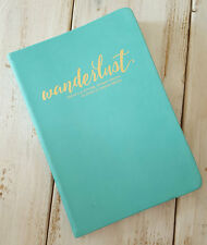 Blank WANDERLUST Travel Journal Inspiring Diary Eccolo Turquoise gold gift