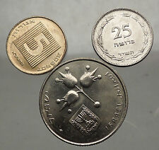 70s-80s ISRAEL Group Uncirculated Mint Coins and/or Tokens Collection Lot i57029