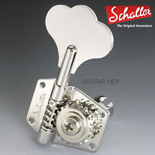 NEW Schaller BML Compact Bass Tuners Keys BM 4-Inline Vintage Style - NICKEL