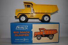 1960's Buddy L Big Mack Pressed Steel Dump Truck, Original Box