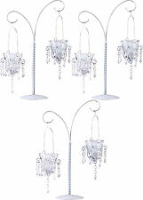 "3 White 17"" tall Crystal chandelier Candle Holder candelabra table centerpiece"