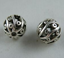 20pcs Tibetan Silver Hollow Round Ball Spacer Beads 11mm AD18348