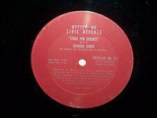 RADIO PROMO LP CIVIL DEFENSE GEORGIA GIBBS & ADAM WADE #515 & #516