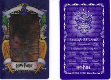 Harry Potter.  Chocolate frog card.  Gringotts Bank