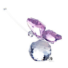 Crystal Pink Butterfly Glass Animal Figurine Cute Wedding Favor Ornament Gifts