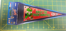 Wally The Green Monster Boston Red Sox Pennant  - 4x10 pennant - ships worldwide