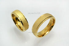 20pcs 18K Gold Plated Stainless Steel Classic Ring Band Mens Womens Wedding FREE