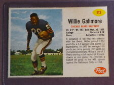 1962 Post Willie Galimore #113 Bears VG/EX small crease (Inv#816cb)