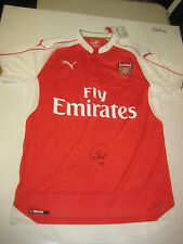 SANTI CAZORLA HAND SIGNED ARSENAL HOME JERSEY UNFRAMED + PHOTO PROOF + C.O.A