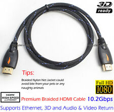 Braided High Speed 3FT HDMI Cable Nylon Jacket +HDMI to DVI-D 24+1 Audio Adapter