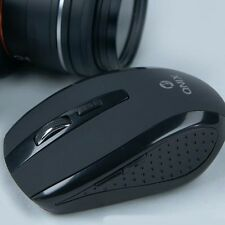 Wireless Silent Optical Mouse USB Noiseless DPI Adjustable 5 Button QNIX Black