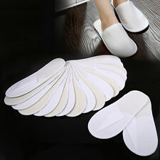 10 Pairs Disposable Guest Slippers Travel Hotel SPA Slipper Shoes Household SS