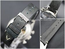 20mm Vintage look handmade genuine Italian leather watch strap, band
