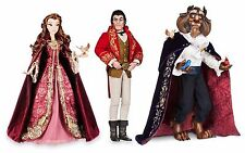 Disney Store Limited Edition Beauty & The Beast and Gaston LE Dolls Set - SEALED