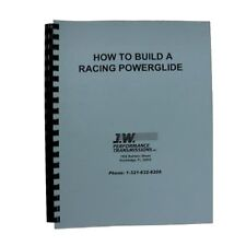 "JW Performance Trans 92077 Transmission Part ""HOW TO BUILD"" A RACING POWERGLIDE"