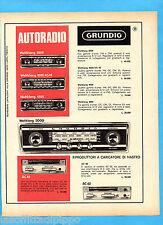 QUATTROR967-PUBBLICITA'/ADVERTISING-1967- GRUNDIG - AUTORADIO  (versione B)