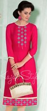 Indian Bollywood Kurta Kurti Women Ethnic Dress TopTunic Pakistani L Bust-40""