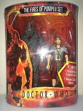 DOCTOR WHO FIRES OF POMPEII FIGURE SET PYROVILE MAGMA CREATURE & ROMAN SOLDIER