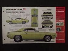 1971 PLYMOUTH HEMI 'CUDA IMP Hot Cars Spec Sheet Folder Brochure RARE