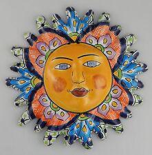 Mexican Talavera  Ceramic Sun Face Wall Decor Hanging Pottery Folk Art  # 06