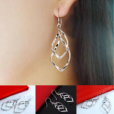 Silver Fashion Women Alloy Plated Stud Dangle Earings Eardrop Jewelry Wholesale