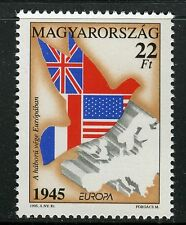 HUNGARY 1995 EUROPA-WWII/PEACE/WAR/FREEDOM/DOVE/MAP/FLAGS/LIBERATION