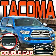 2016-2017 TACOMA CREW DOUBLE CAB WINDOW RAIN VISORS SUN DEFLECTOR VENT with LOGO