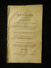 DANGERS WHICH THREATENS EUROPE Mallet du Pan French Revolution Political Writing