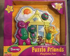 NEW Plastic Barney Puzzle Purple Dinosaur Baby Bop BJ 3D School House