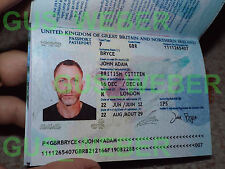 007 JAMES BOND PASSPORT PROP SKYFALL Daniel Craig (Spectre - Casino Royal)