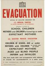 IWM WW2 A3 Evacuation Poster - WW2 Propaganda Recruitment Poster - World War 2