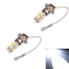 2x H3 Lenti 11W 9 LED SMD Auto Automatico Xeno Bianco Nebbia Guida