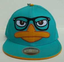 Disney Phineas & Ferb Perry the Platypus Snap Back Cap NWT Flat Brim