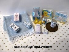 BABY BATH TIME ACCESSORIES  BOY DOLLHOUSE MINIATURES