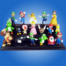 Una Super Mario Bros 1.5~6.3cm Lotto 18 pezzi Action Figure Bambola
