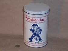 Rare Large 6 oz. CRACKER JACK BOX TIN BOX CANISTER Replica of a early 1900 Pkg