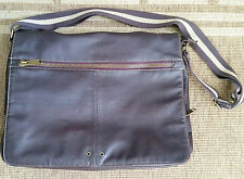 GABOL Spain VTG Soft Supple Leather Messenger Laptop Bag Roomy 15x11x4 Retro 022