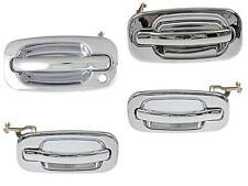 Gmc Sierra Yukon Xl Denali Cadillac Escalade Outside Chrome Door Handle Set Of 4