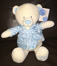 Keel Toys BABY BOY Spotty Dressing Gown White Bear New with tags 25cm