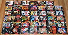 BIG Mixed Lot 41 SNES Super Nintendo Games Boxes Complete 15 CIB 14 Boxed 12 Box