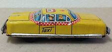 "Nakamura Tin litho TAXI Car Japan Friction WORKING 4"" vintage Yellow Cab old"