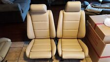 BMW E30 325i 318i  325is M3 BMW SPORT SEATS NATURAL RE-UPHOLSTERED  BEAUTIFUL