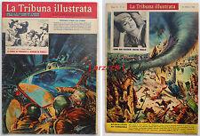 TRIBUNA ILLUSTRATA 43 COSMONAVE RUSSA VOSKHOD Tarquinia tromba d'aria 25/10/1964