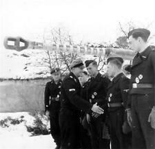 WWII Photo German Panzer Aces Peiper & Wittman 1944 WW2 B&W World War Two / 2239