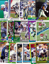 SEATTLE SEAHAWKS 50 Different Past card lot from 1986 - 2002