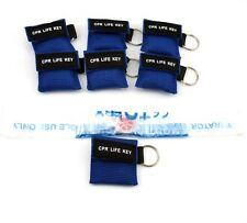 50 CPR MASK WITH KEYCHAIN CPR FACE SHIELD AED BLUE POUCH